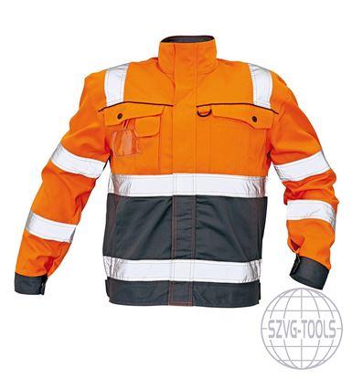 Kép COLYTON HiVis kabát narancs-szürke 48