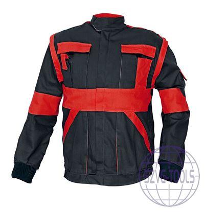 Kép MAX kabát 260 g/m2 fekete/piros 50