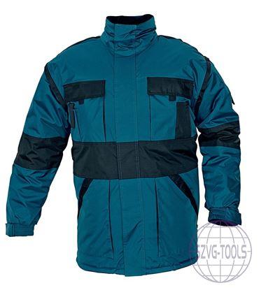 Kép MAX téli kabát párnáz zöld/fekete 3XL