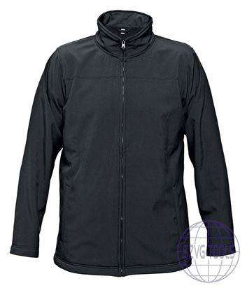 Kép BE-02-003 softshell kabát fekete L