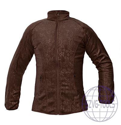 Kép YOWIE női polár kabát barna L