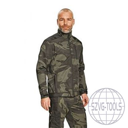 Kép CRAMBE SOFTSHELL kabát terepszínű L