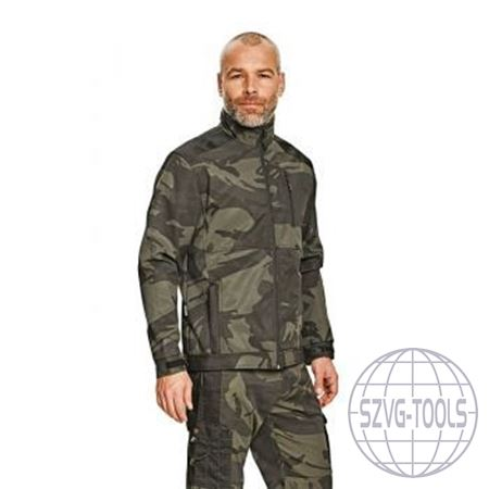 Kép: CRAMBE SOFTSHELL kabát terepszínű L