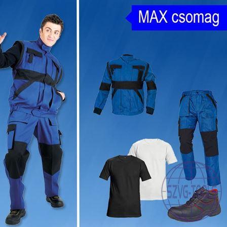 MAX-munkavédelmi csomag-kabát, derekas nadrág, póló, bakancs