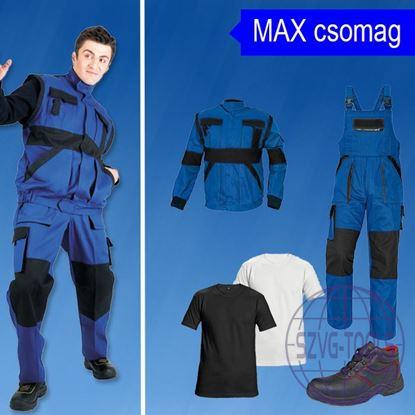 MAX-munkavédelmi csomag-kabát, kantáros nadrág, póló, bakancs