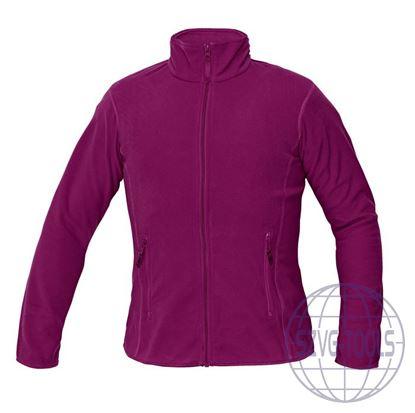 Kép GOMTI női polár kabá sötét rózsaszín XXL