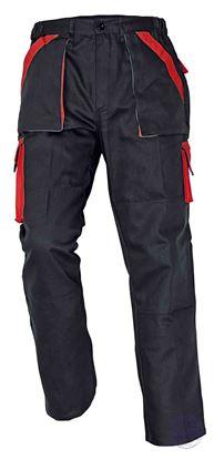 Kép MAX nadrág 260 g/m2 fekete/piros 48