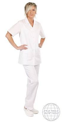 Kép LILY rövidujjú női ing fehér - 40