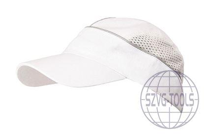 Kép ALZETTE sapka fehér sapka ezüst csíkkal
