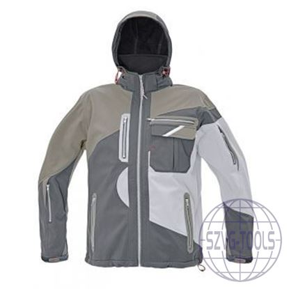 Kép SYMMONS SOFTSHELL kabát fehér L