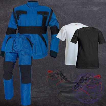 Kép MAX munkaruha csomag-kabát-derekas nadrág-póló-bakancs